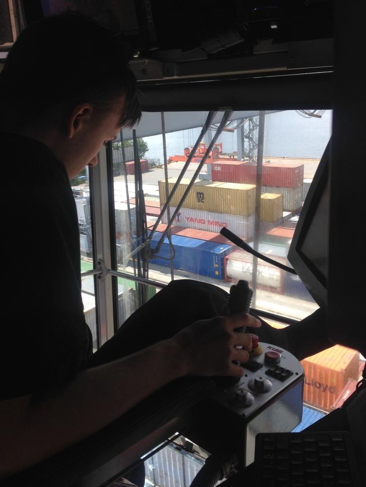 Første dag i RTG Containerkran.