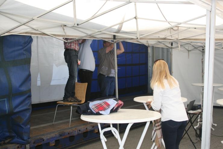 Preparation before the presentation of Yilport Oslo
