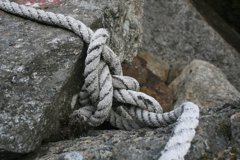 I like the way the rope is curling with two edges coming in and going out. Symbolizing the cycle of life. Amazing.