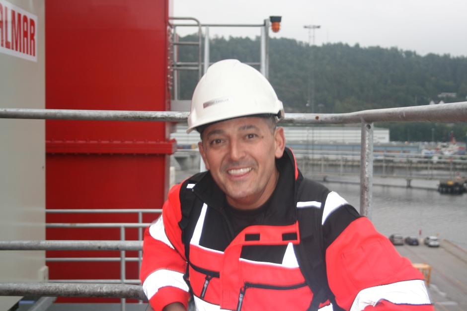 One happy crane operator, Aytac Muzaffer Caglar