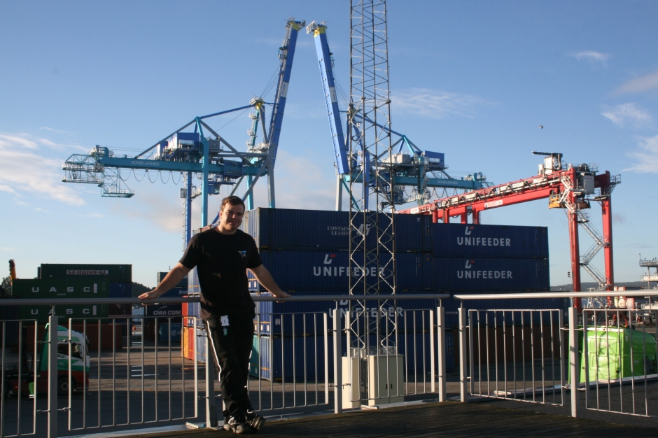 Sonny Crane Operator and the new cranes in the back.