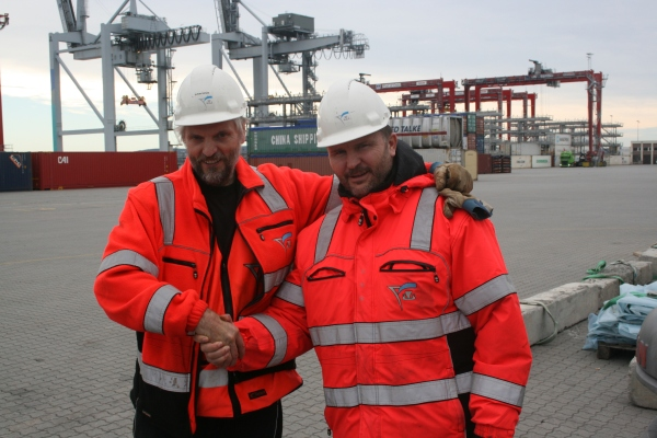 Graciously taking over the shift. Svein Ervik on the left and Rudi Romsaas.