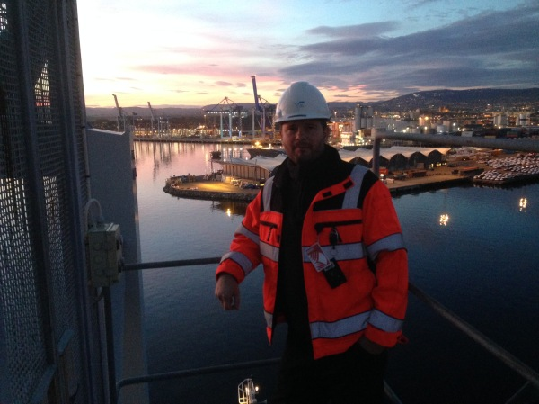 After a day of practicing me and Øyvind Pettersen stopped on top of SSG3 (507) and enjoyed the view.